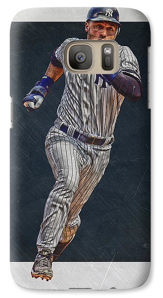 Derek Jeter New York Yankees Art 3 Galaxy S7 Case by Joe Hamilton