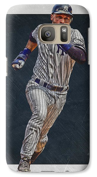 Derek Jeter New York Yankees Art 3 Galaxy Case by Joe Hamilton