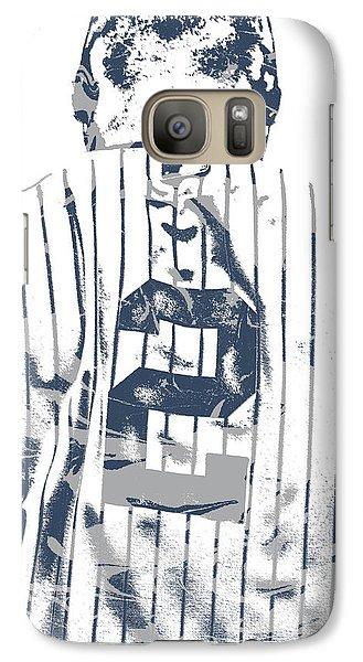 Derek Jeter New York Yankees Pixel Art 11 Galaxy S7 Case