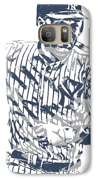 Derek Jeter New York Yankees Pixel Art 12 Galaxy S7 Case