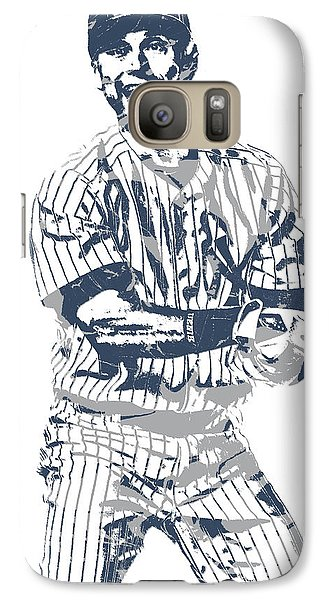 Derek Jeter New York Yankees Pixel Art 13 Galaxy S7 Case
