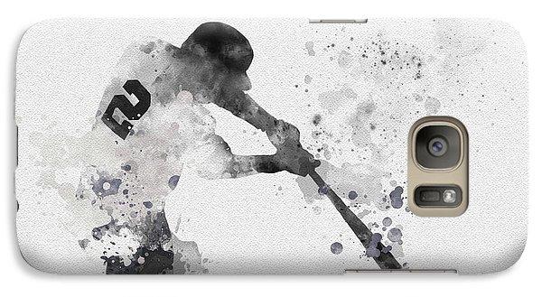 Derek Jeter Galaxy S7 Case by Rebecca Jenkins