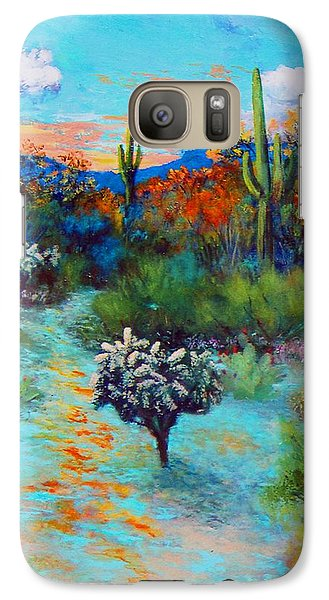 Galaxy Case featuring the painting Desert At Dusk by M Diane Bonaparte