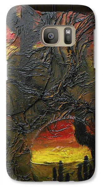 Galaxy Case featuring the mixed media Desert Cactus by Angela Stout