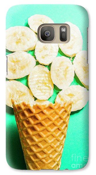 Banana Galaxy S7 Case - Desert Concept Of Ice-cream Cone And Banana Slices by Jorgo Photography - Wall Art Gallery