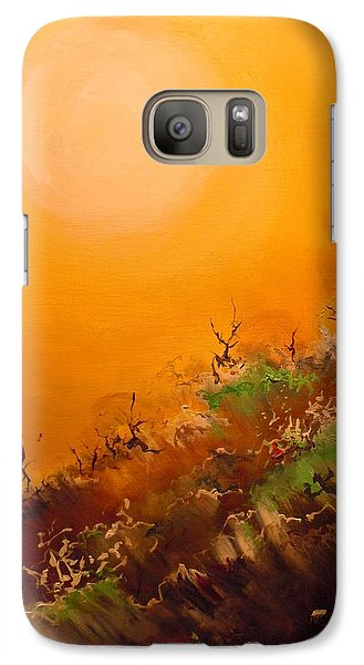 Galaxy Case featuring the painting Hot Desert  Evening  by Dan Whittemore