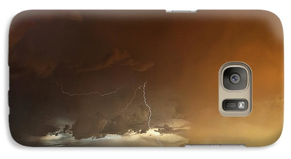 Galaxy Case featuring the photograph Desert Fire by James Menzies