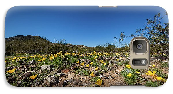 Galaxy Case featuring the photograph Desert Flowers In Spring by Ed Cilley