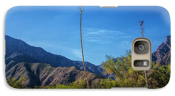 Galaxy Case featuring the photograph Desert Flowers In The Anza-borrego Desert State Park by Randall Nyhof