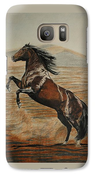 Galaxy Case featuring the drawing Desert Horse by Melita Safran