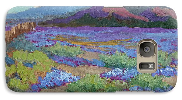 Galaxy Case featuring the painting Desert In Bloom by Diane McClary