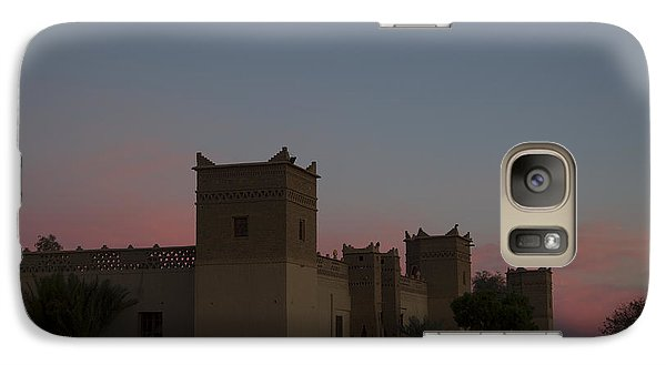 Galaxy Case featuring the tapestry - textile Desert Kasbah Morocco 2 by Kathy Adams Clark