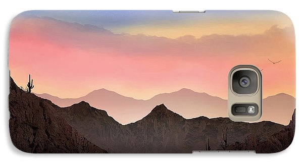 Galaxy Case featuring the photograph Desert Landscape by Anthony Citro