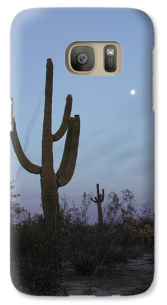 Galaxy Case featuring the photograph Desert Moon by Nancy Taylor