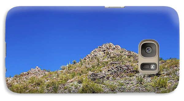 Galaxy Case featuring the photograph Desert Mountaintop by Ed Cilley