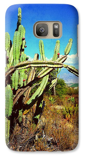 Galaxy Case featuring the photograph Desert Plants - Westward Ho by Glenn McCarthy