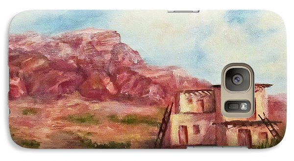 Galaxy Case featuring the painting Desert Pueblo by Roseann Gilmore