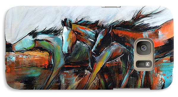 Galaxy Case featuring the painting Desert Racers by Cher Devereaux