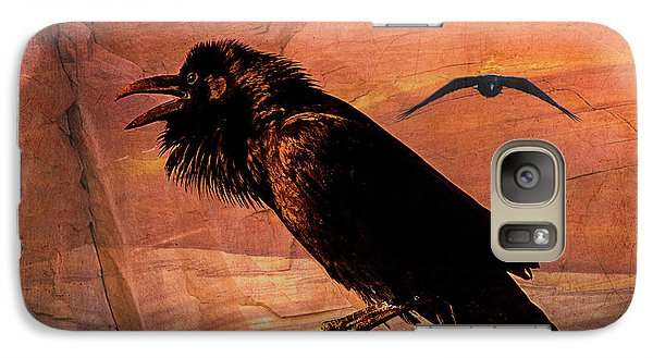 Galaxy Case featuring the photograph Desert Raven by Mary Hone