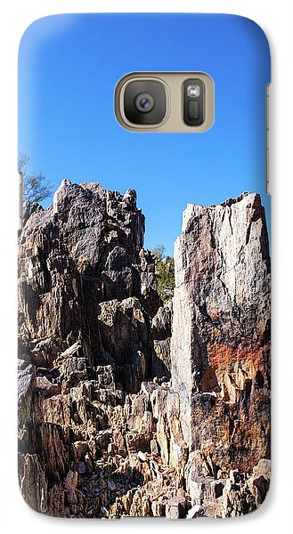 Galaxy Case featuring the photograph Desert Rocks by Ed Cilley