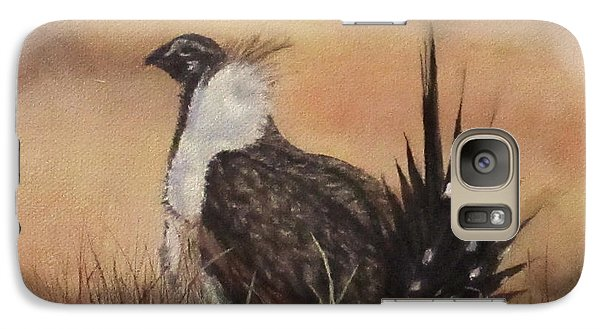 Galaxy Case featuring the painting Desert Sage Grouse by Roseann Gilmore