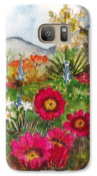 Galaxy Case featuring the painting Desert Spring by Eric Samuelson