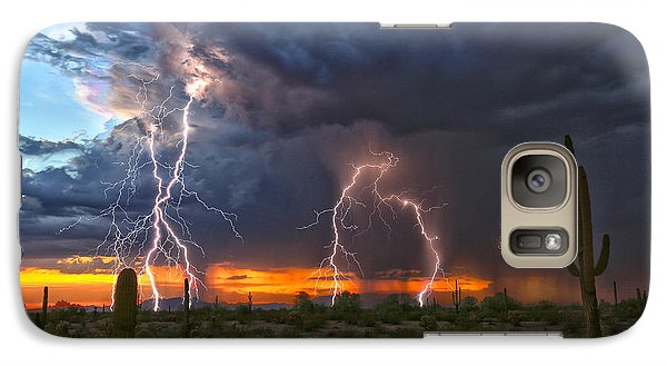 Galaxy Case featuring the photograph Desert Strike by James Menzies