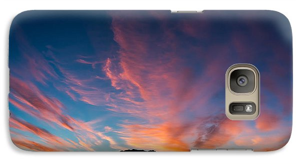 Galaxy Case featuring the photograph Desert Sunrise by Mary Hone