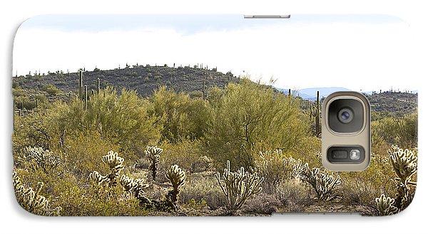 Galaxy Case featuring the photograph Desert Sunrise by Phyllis Denton