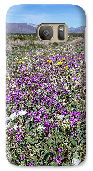 Galaxy Case featuring the photograph Desert Super Bloom by Peter Tellone
