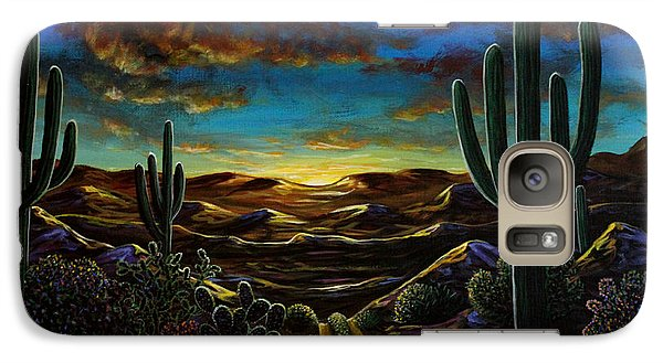 Galaxy Case featuring the painting Desert Trail by Lance Headlee