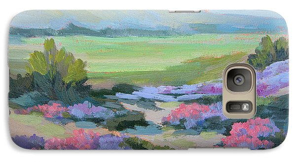Galaxy Case featuring the painting Desert Verbena 1 by Diane McClary
