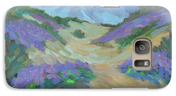 Galaxy Case featuring the painting Desert Verbena by Diane McClary