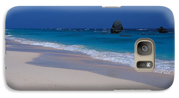 Galaxy Case featuring the photograph Deserted Beach In Bermuda by Carl Purcell