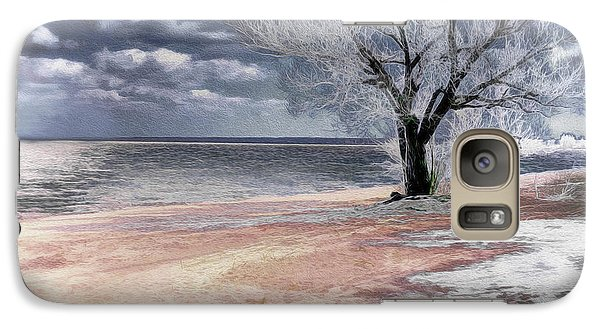Galaxy Case featuring the photograph Deserted Beach by Pennie  McCracken