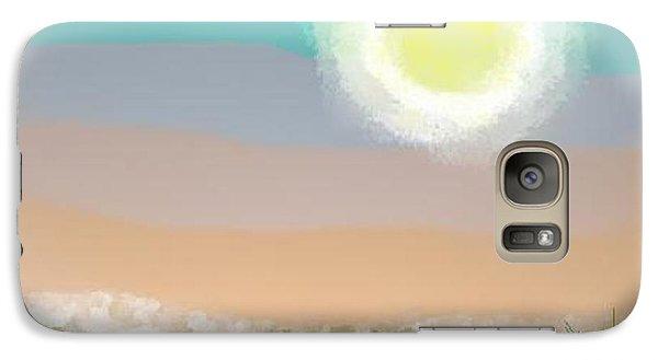 Galaxy Case featuring the digital art Desert.night.moon by Dr Loifer Vladimir