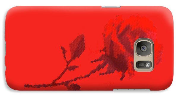Galaxy Case featuring the photograph Designer Red Rose by Linda Phelps