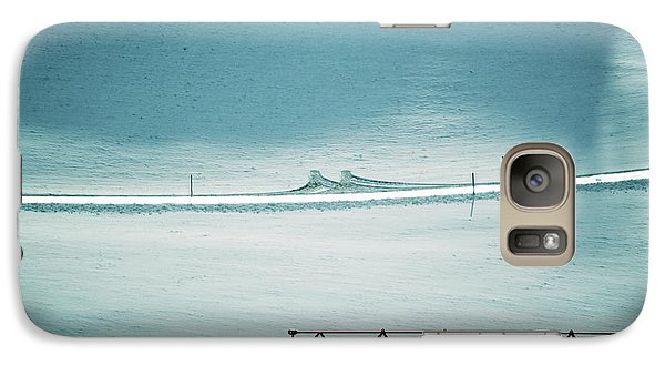Galaxy Case featuring the photograph Designs And Lines - Winter In Switzerland by Susanne Van Hulst