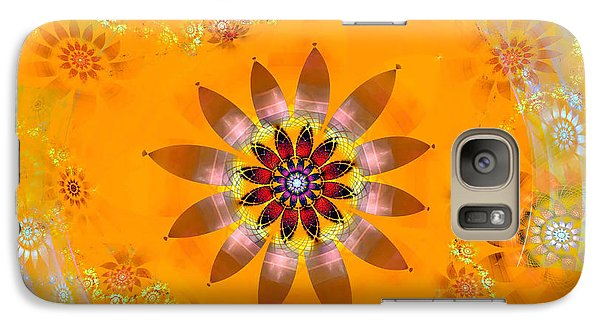 Galaxy Case featuring the digital art Designs On Gold by Richard Ortolano