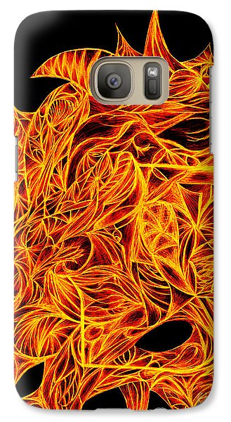 Galaxy Case featuring the drawing Desire Flair by Jamie Lynn