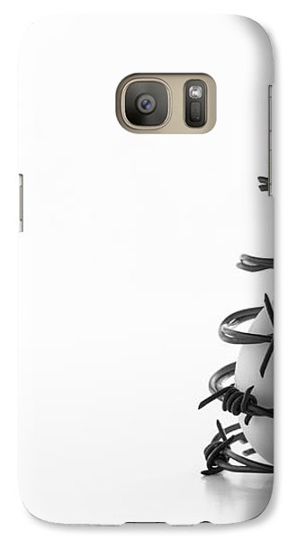 Galaxy Case featuring the photograph Destined To Be A Prisoner For Life by Yvette Van Teeffelen