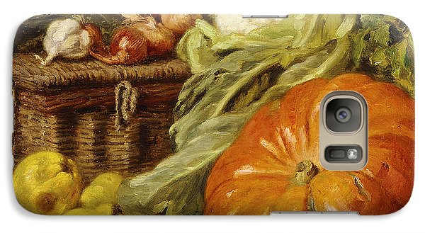 Cauliflower Galaxy S7 Case - Detail Of A Still Life With A Basket, Pears, Onions, Cauliflowers, Cabbages, Garlic And A Pumpkin by Eugene Claude