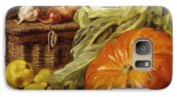 Detail Of A Still Life With A Basket, Pears, Onions, Cauliflowers, Cabbages, Garlic And A Pumpkin Galaxy Case by Eugene Claude