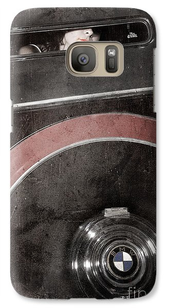 Galaxy Case featuring the photograph Detail Of A Vintage Car. by Andrey  Godyaykin