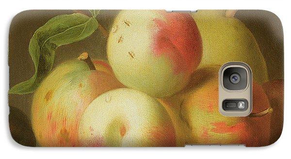 Detail Of Apples On A Shelf Galaxy Case by Jakob Bogdany