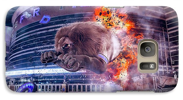 Galaxy Case featuring the photograph Detroit Lions At Ford Field 2 by Nicholas Grunas