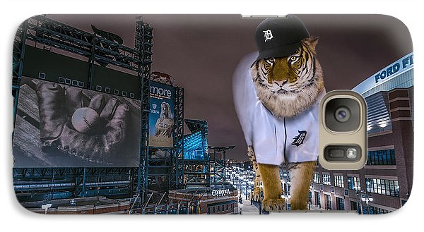 Galaxy Case featuring the photograph Detroit Tigers At  Comerica Park by Nicholas  Grunas
