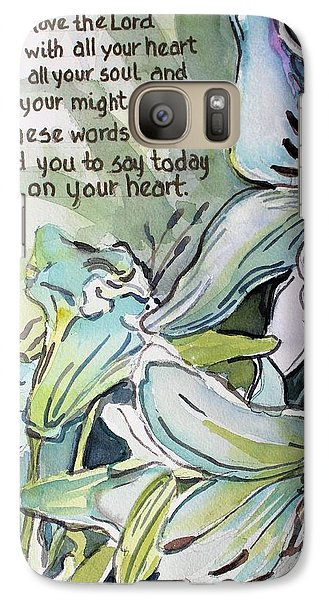 Galaxy Case featuring the painting Deuteronomy 6 5-6 by Mindy Newman