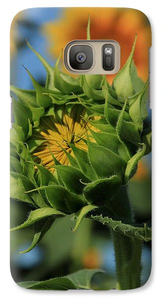 Galaxy Case featuring the photograph Developing Petals On A Sunflower by Chris Berry