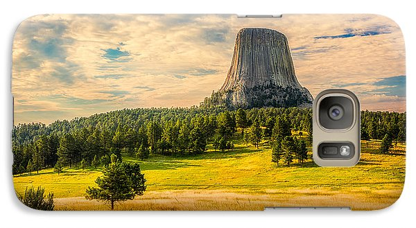 Galaxy S7 Case featuring the photograph Devil's Tower - The Other Side by Rikk Flohr
